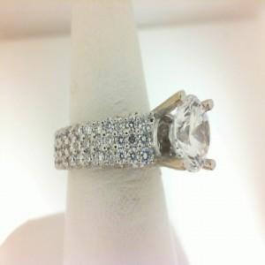 Natalie K: 14Kw 1.65Ctw Diamond Semi Mount