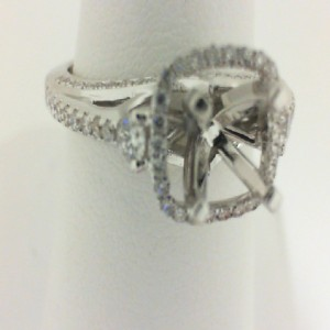 Natalie K: 14Kw .55Ctw Diamond Semi Mount For 1 Ct Center