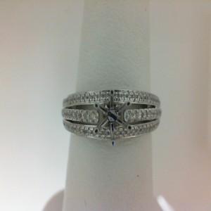 White 14 Karat Ring Size 6.5 With 80=0.31Tw Round Diamonds Serial #: 501583