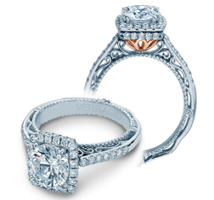Two-Tone 18 Karat Ring  With 58=0.55Tw Round Diamonds