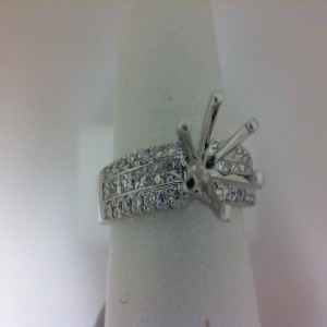 White 14 Karat Ring Size 6.5 With 40=0.63Tw Round Diamonds