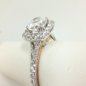 White/Rose 18 Karat Semi Mount Ring With 0.90Tw Round Diamonds  Name Couture  Center Size 7.25mm