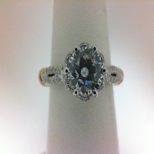 Parisian Collection White/Rose 14 Karat Semi Mount  With 0.35Tw Round Diamonds