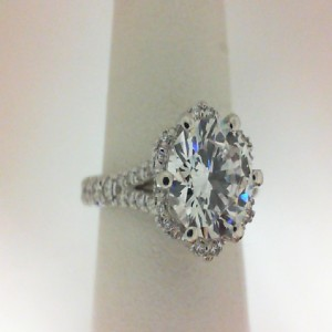 Couture Collection White 18 Karat Semi Mount With 0.60Tw Round Diamonds