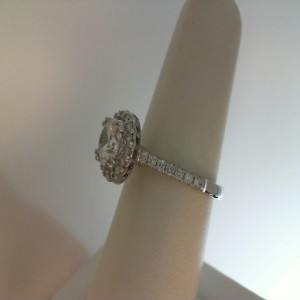 White 14 Karat Ring  With 0.34Tw Round G/H Si1 Diamonds  Name Renaissance  Center Size 5.8mm