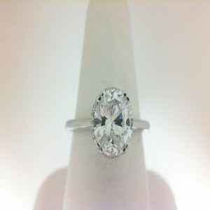 White 14 Karat Semi Mount  Ring With 26=0.10Tw Round Diamonds  Serial 576089