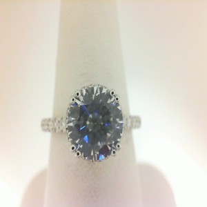 White 14 Karat Semi Mount Ring With 58=0.55Tw Round Diamonds  Serial # 576087
