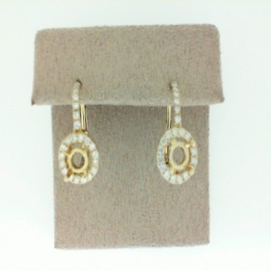 Yellow 14 Karat Earrings With 32=0.30Tw Round Diamonds