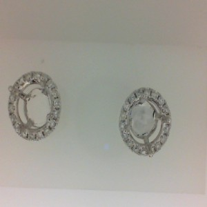 White 14 Karat Earrings With 36=0.49Tw Round Diamonds So: For 1.50 Ctr