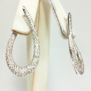White 14 Karat Earrings With 238=1.72Tw Round Diamonds Serial #: 538103