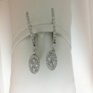 White 14 Karat Earrings With 78=0.59Tw Round Diamonds