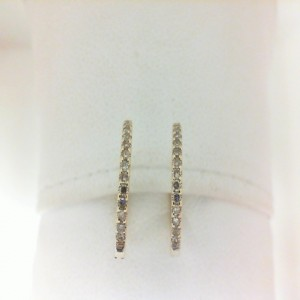 Yellow 14 Karat Earrings With 28=0.20Tw Round Single Cut Diamonds
