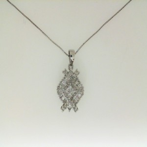 14Kw 1.19Ctw Diamond Pendant W/ Chain