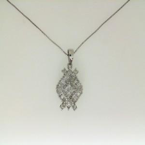 14Kw 1.19Ctw Diamond Pendant W/ Chain