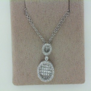 18 Karat Diamond Pendant On 18 Karat Double Chain