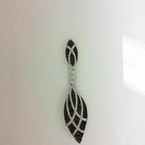 Natalie K: White 14 Karat Pendant With 0.97Tw Round Diamonds And 2.67Tw Round Black Diamonds Chain: Cable Link Metal: 14 Karat Color: White Length: 18