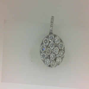 White 14 Karat Pendant With 41=1.78Tw Round Diamonds