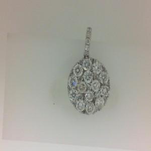 White 14 Karat Pendant With 41=1.78Tw Round Diamonds