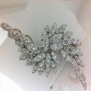 White 18 Karat Pendant With 3.08Tw Round Diamonds Name: Ackerman Signature Collection- Brooch/Pendant
