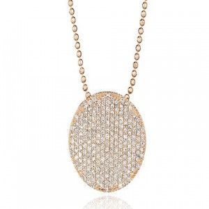 Phillips House: Rose 14 Karat Pendant With 191=1.00Tw Round Diamonds Name: Large Infinity Chain: Bead Metal: 14 Karat Color: Rose Length: 18