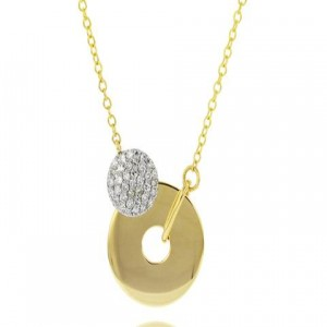 Phillips House: Yellow 14 Karat Pendant With 37=0.20Tw Round Diamonds Name: Affair/ Infinity Crescent Open Circle