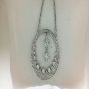 Lady S White 18 Karat Necklace With 155=1.00Tw Round G/H Vs-Si Diamonds