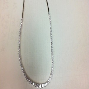 White 18 Karat Necklace With 71=3.92Tw Round Diamonds
