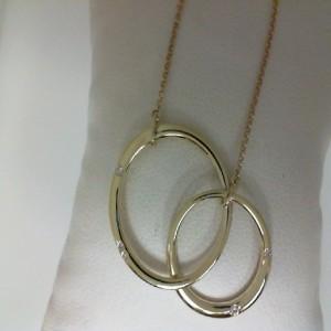 Yellow 14 Karat Necklace With 5=0.05Tw Round Diamonds Name: Infinity Length: 18