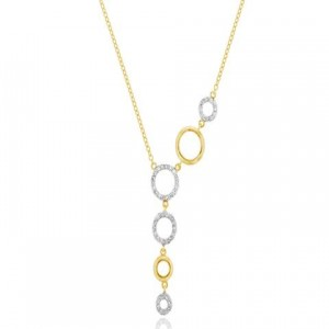 Phillips House: Yellow 14 Karat Necklace With 48=0.24Tw Single Cut Diamonds Name: Graduated Open Circle Metal: 14 Karat Color: Yellow Length: Ajust 18 -16