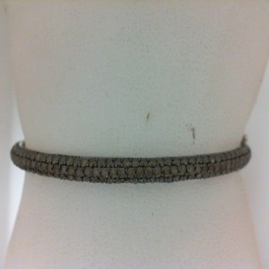 White 14 Karat Bangle Bracelet With 139=2.41Tw Round Brown Diamonds Serial #: 541558