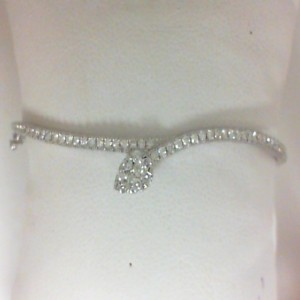 White 14 Karat Bracelet With 58=0.67Tw Round Diamonds