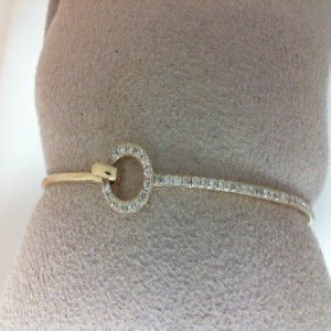 Yellow 14 Karat Bracelet With 47=0.39Tw Round Diamonds