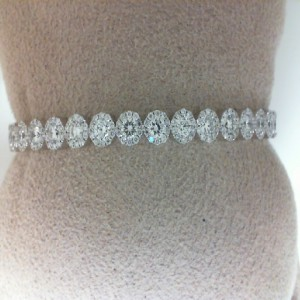 White 14 Karat Bangle Bracelet With 187=1.83Tw Round Diamonds