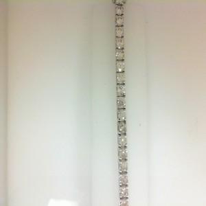 White 14 Karat Bracelet With 44=7.55Tw Round I Si1-2 Diamonds Style Name: Tennis Bracelet Prong Set Length/Size: 7
