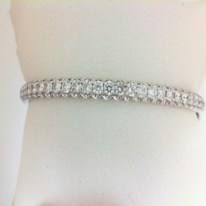 White 14 Karat Bracelet With 30=1.99Tw Round H/I Si2 Diamonds Style Name: Bangle