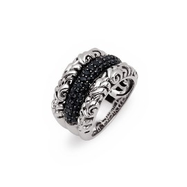Sterling Silver Fashion Ring With 55=1.20Tw Round Black Sapphires Name: Precious Pavé Ivy Ring Size: 6.5