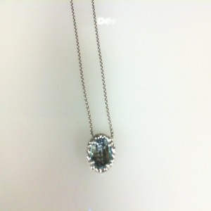 Sterling Silver Filigree Pendant With One 8.00mm Round Sky Blue Topaz Style Name: Dylani Style: Venetian Box Metal: Sterling Silver Length: 17