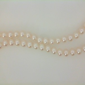 18 Kt W/G 16 Inch 5.5 X 6 Mm A1 Pearl Necklace