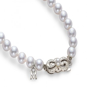 White 18 Karat Strand With A Quality 50=7.00X7.50Mm Round Pearls Length: 16