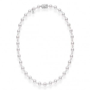White 18 Karat Strand With 71=3.50-8.50Mm Round Pearls Name: A1 Akoya Length: 18