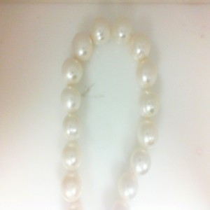 Sterling Silver 11-12 Mm Freshwater Pearl Strand Length: 17.5