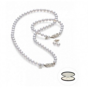 White 18 Karat Set 56=7.00-8.00Mm Round Pearls 21=8.00Mm Round Pearls 2=8.00Mm Round Pearls Style Name: A1 Quality Length: 18
