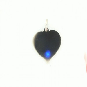 White 14 Karat Pendant Charm Type: Heart Disc Pendant