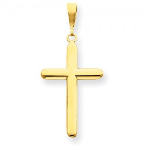 Yellow 14 Karat Religious Charm Pendant Charm Type: Cross