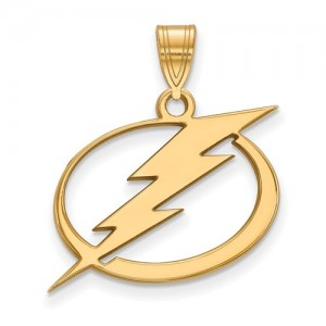 Yellow 10 Karat Large Lightning Pendant