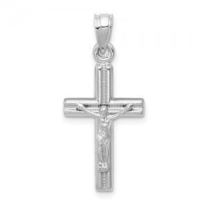 White 14 Karat Religious Charm Pendant Charm Type: Cross