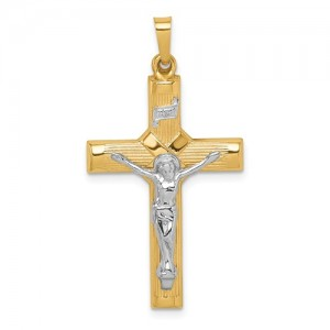 Yellow 14 Karat Cross Charm Pendant