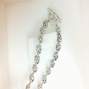 35 Ivy Bead Sterling Silver Chain