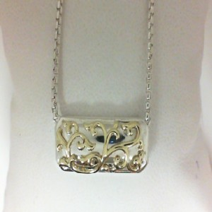 IVY LACE NECKLACE Sterling Silver & 18Ky Chain
