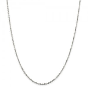 White Sterling Silver Cable Link Chain Length: 22 Name: 1.95Mm
